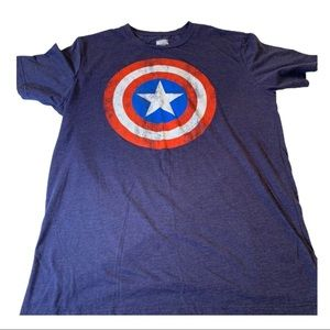 Marvel distressed Captain America T-Shirt, Large